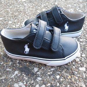 Ralph Lauren Polo Toddler Sneaker Black Polo Shoes